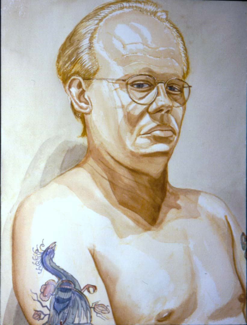 1994 Portrait of Dick Beebe Watercolor Dimensions Unknown