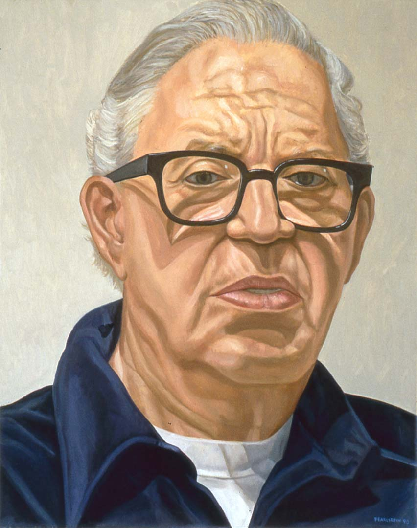 "1998 Portrait of Morris Dorsky Oil 30"" x 24"""