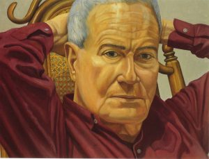 1999 Portrait of Robert Rosenblum Oil on canvas 23 x 30