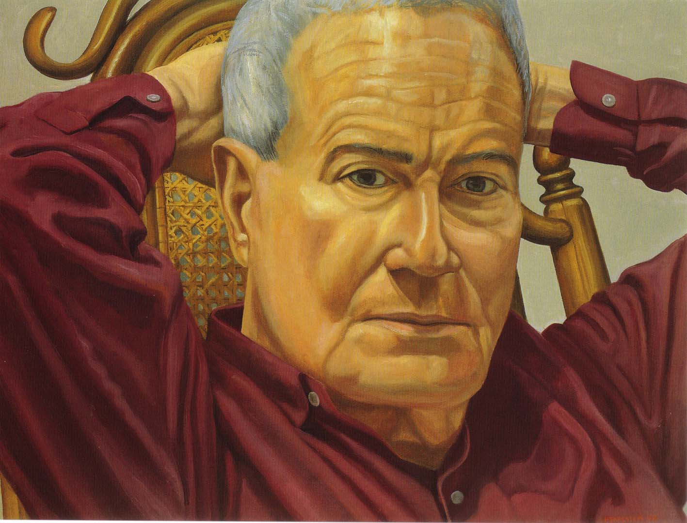 "1999 Portrait of Robert Rosenblum Oil on canvas 23"" x 30"""