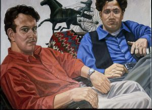 1999 Portrait of Sam and Allan Fleishman Oil Dimensions Unknown
