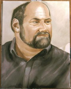 2001 Portrait of Karl Dagnello Oil 40 x 30