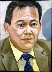 2003 Portrait of Carlos Picon Oil on canvas Dimensions Unknown