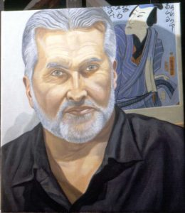 2003 Portrait of J.D. McClatchy Oil on canvas 2003