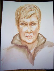 2004 Portrait of Amy Fusselman Watercolor Dimensions Unknown
