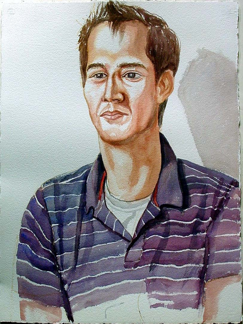 2005 Portrait of Frank Snider Watercolor Dimensions Unknown