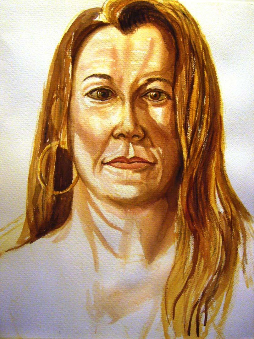 2006 Portrait of Joni Danaher Watercolor on paper Dimensions Unknown