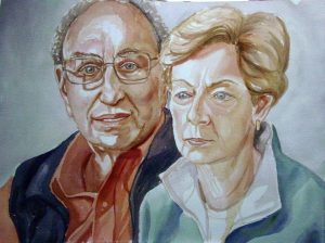 2006 Portrait of Larry & Murt Meltzer Watercolor on paper Dimensions Unknown