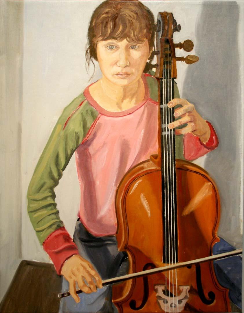 "2006 Sophie Pearlstein Oil 36"" x 28"""