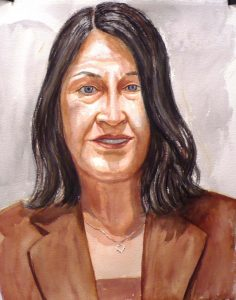 2007 Portrait of Diana Erdos Watercolor Dimensions Unknown