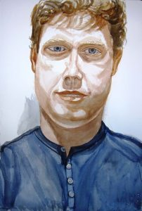 2007 Portrait of Philip Ennik Watercolor Dimensions Unknown