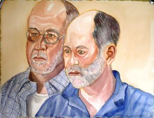 2008 Patrick Coony & Karl Bachberg Watercolor 23 x 30