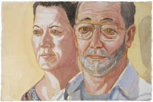 2009 Steve & Lily Zane Watercolor Dimensions Unknown