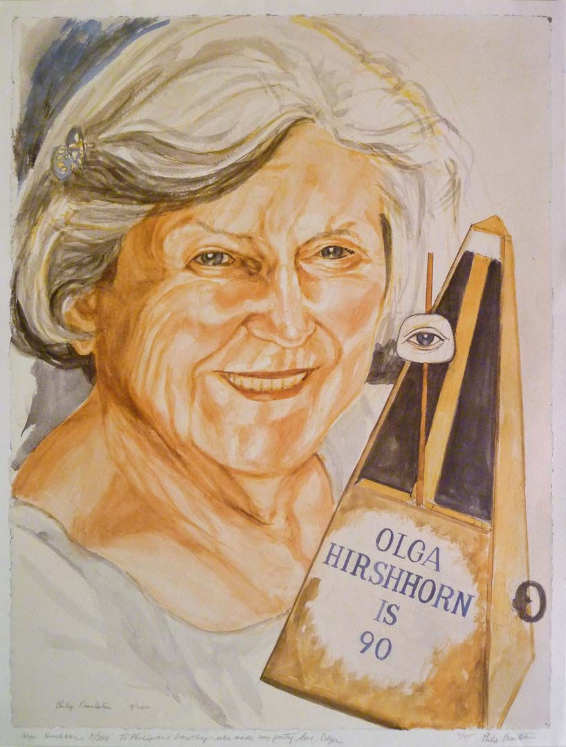 2010 Olga Hirshorn (for 90th birthday invitation)  Dimensions Unknown
