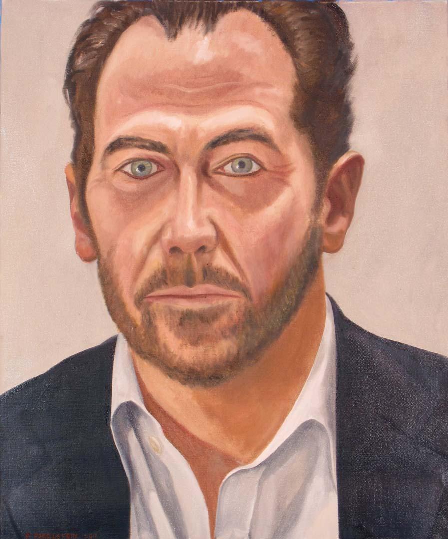 """2011 Franz Freiherr von Rassler Oil 20"""" x 16.5"""""""