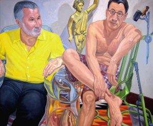 2011 Portrait of Sandy McClatchy and Chip Kidd Oil 48 x 60