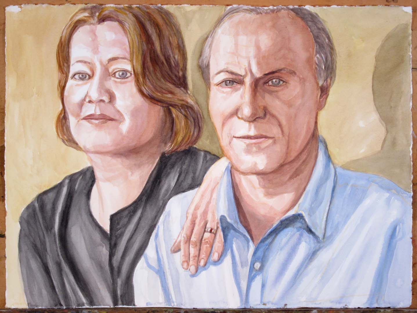"2011 Sandra Amann and Michael Pashby Watercolor 22.5"" x 30.125"""