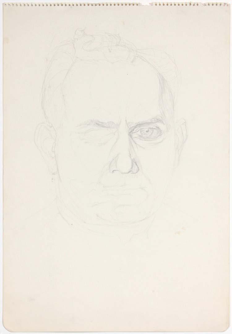 """David Pearlstein (Portrait) Pencil 17.875"""" x 11.875"""""""