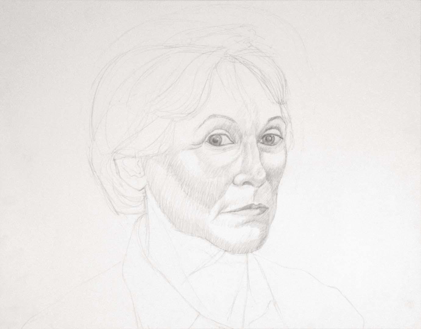 "Untitled Portrait Graphite 18"" x 23"""